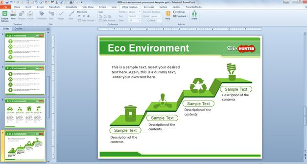 green powerpoint