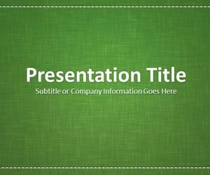 Linen Green PowerPoint Template