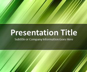 Slanted Bars Green PowerPoint Template