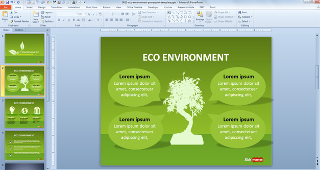 Free Green Sustainability Powerpoint Template Free