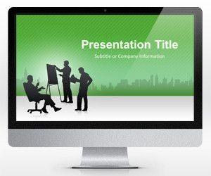Business PowerPoint Template Green (16:9)
