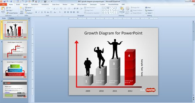 Growth Diagram for PowerPoint