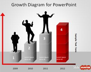 Growth Diagram Template for PowerPoint