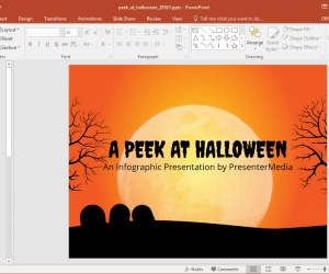Halloween Infographics Template For PowerPoint
