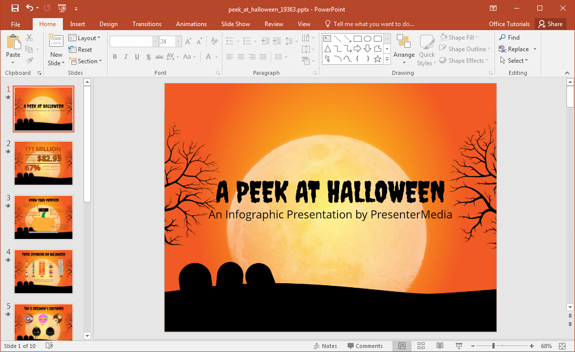 halloween-infographics-template-for-powerpoint