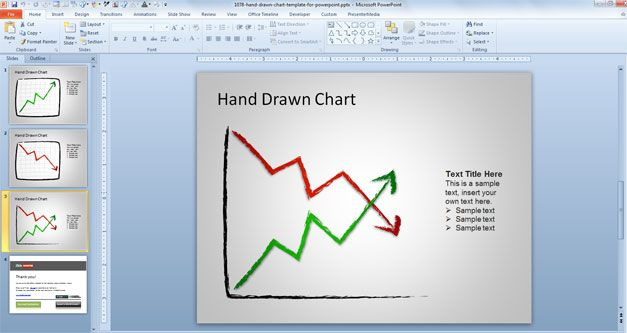 hand drawn chart in powerpoint