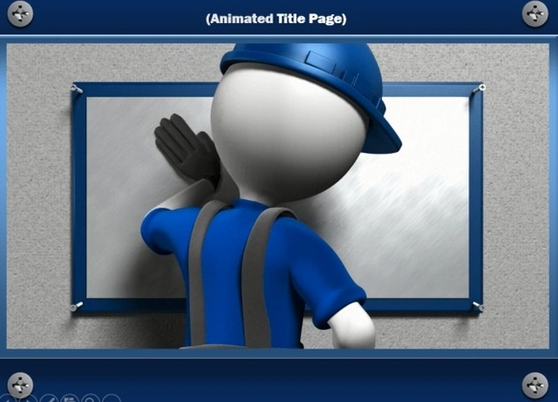 Construction Template For Powerpoint With Video Animation