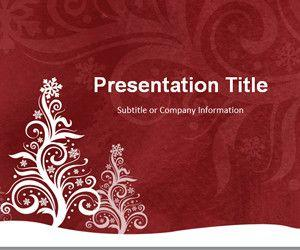 Pine Silhouette Red PowerPoint Template
