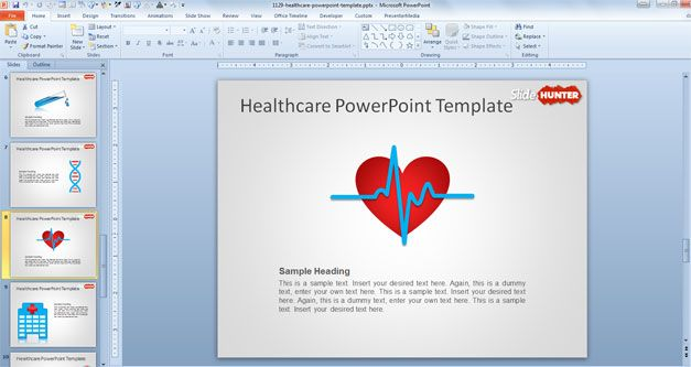 Free Healthcare Powerpoint Template