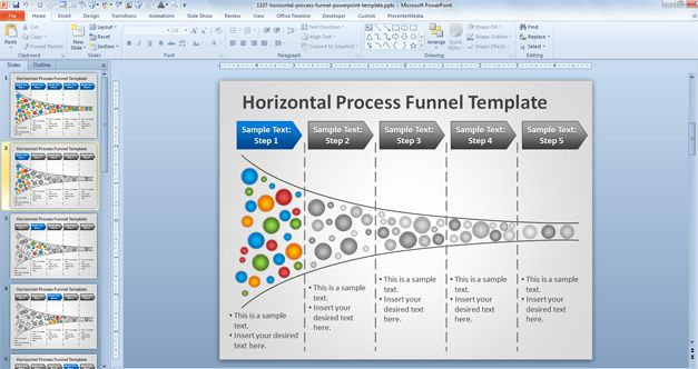 horizontal process powerpoint template