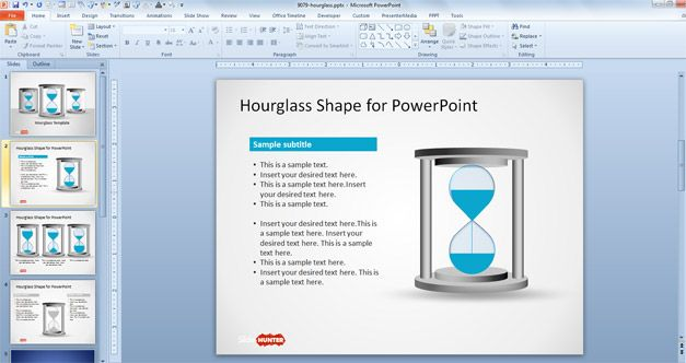 Free Hourglass Shape for PowerPoint