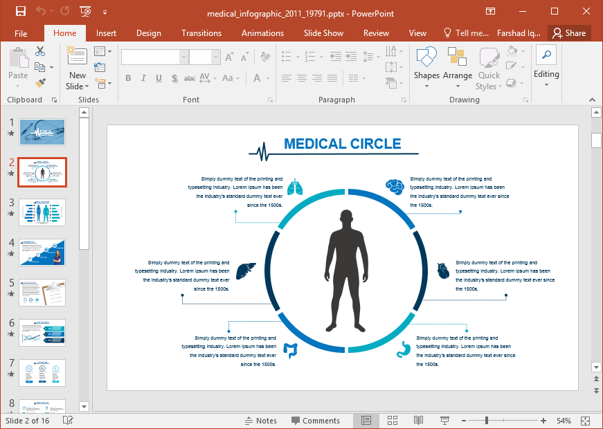 Medical Infographics Maker Powerpoint Template