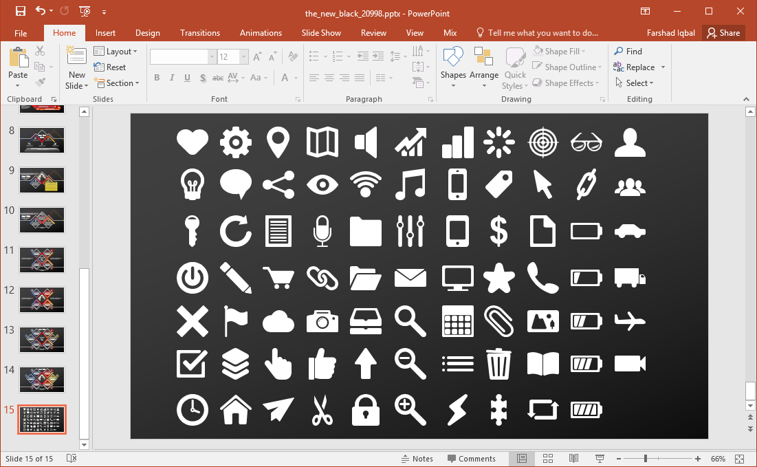 icons for every topic
