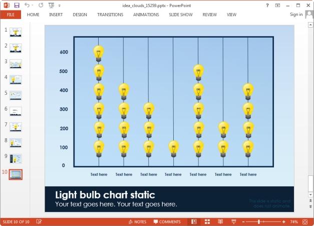 idea bulb chart slide