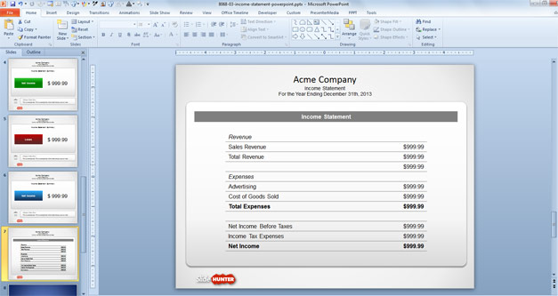 Free Free Income Statement Powerpoint Template Free
