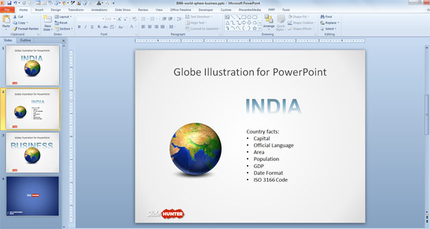 Business Earth Globe Concept Slide for PowerPoint