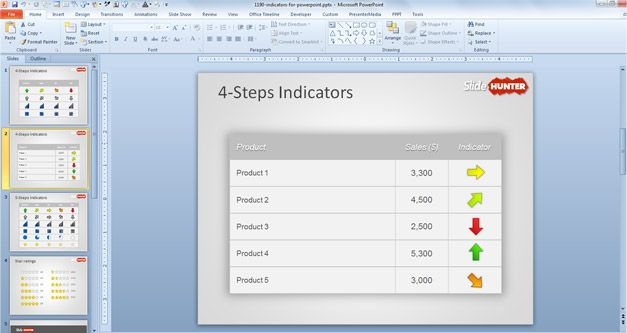 Free Kpi Indicators Template For Powerpoint Free