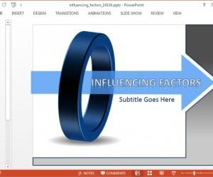 Influencing Factors Diagram Template For PowerPoint