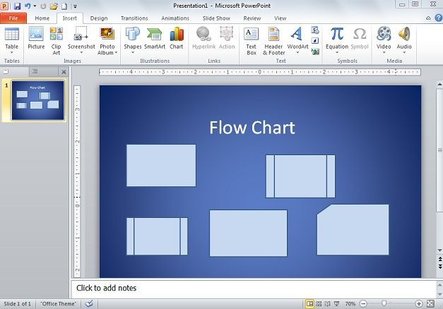 How To Create Flow Chart Diagram In Powerpoint 2010
