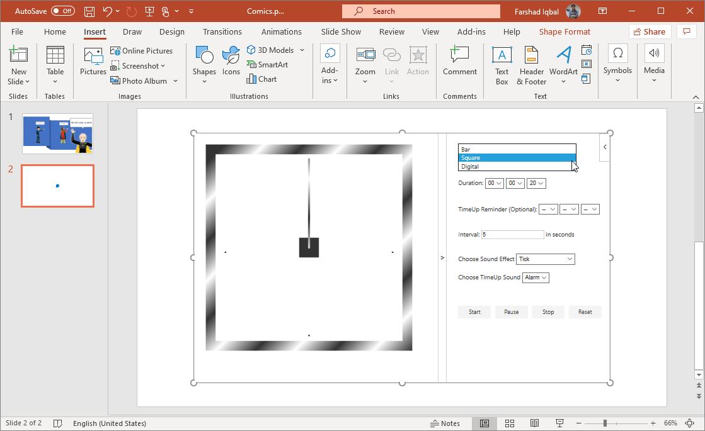 integrate easytimer in powerpoint