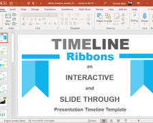 Interactive Timeline Ribbons PowerPoint Template