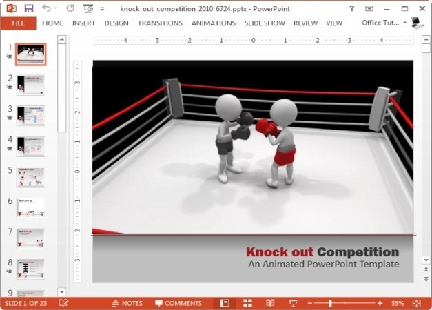 knock out competition template for powerpoint and keynote