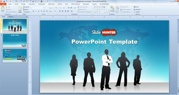 Free Free Widescreen Global Leadership Powerpoint Template