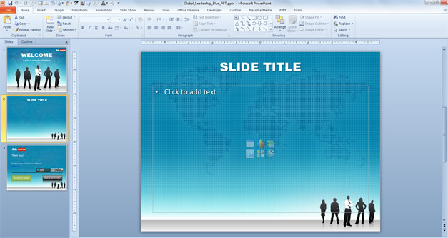 Leadership PowerPoint template example