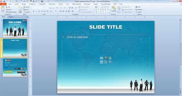 Leadership PowerPoint template example