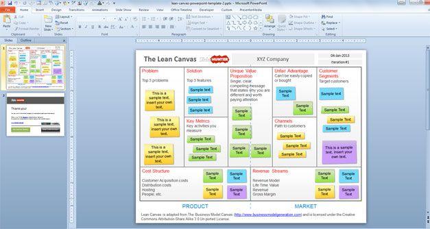 Lean Canvas PowerPoint Template