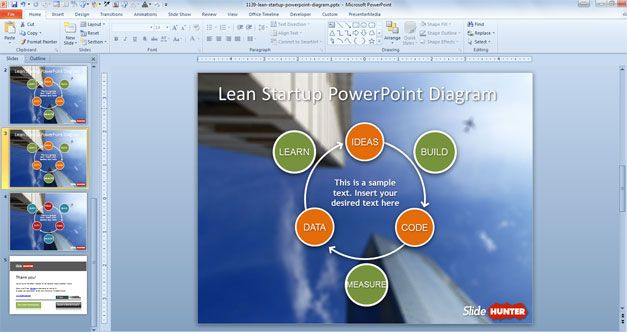 free lean startup PowerPoint template