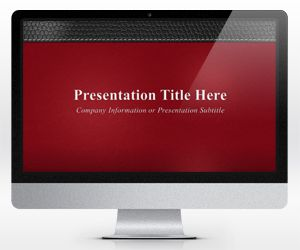 Widescreen Executive Leather PowerPoint Template Red (16:9)
