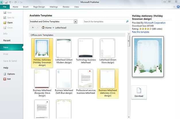 Creating A Letterhead In Microsoft Publisher Slidehunter Com