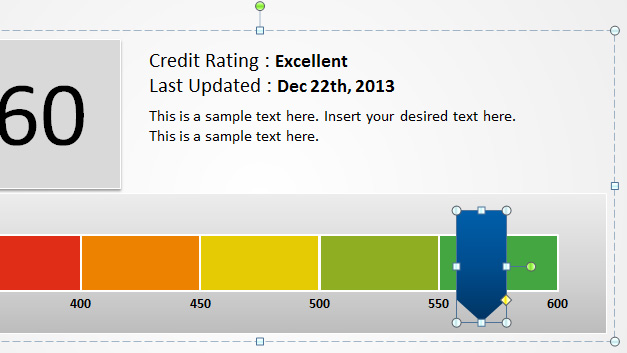 Level Meter for Credit Score Presentations