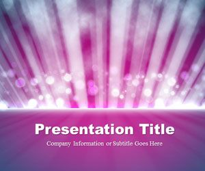 Light Rays Purple PowerPoint Template