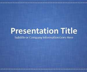 Linen Blue PowerPoint Template
