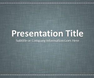 Linen Gray PowerPoint Template