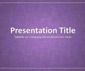 Linen Purple PowerPoint Template