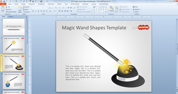 magic wand clipart and shape for PowerPoint free download