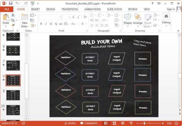 make flowcharts in powerpoint