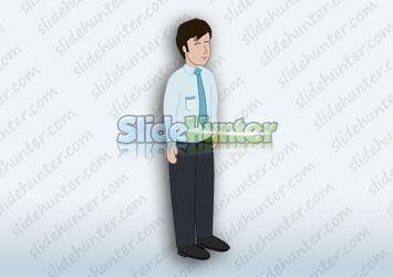 CEO Corporate Manager Illustration for PowerPoint