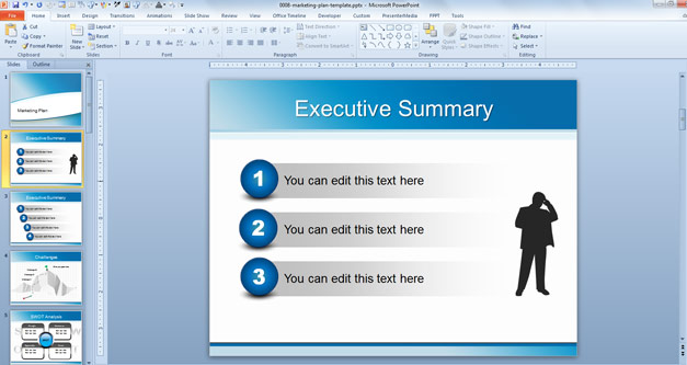Example Executive Summary PowerPoint Slide