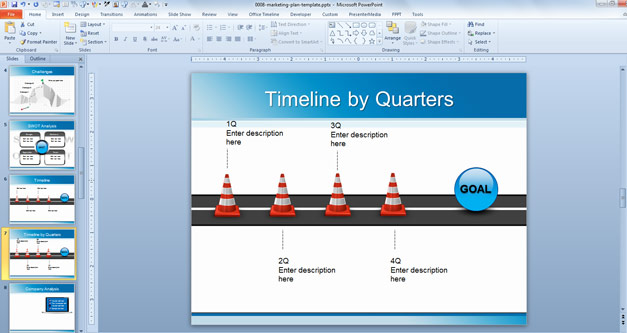 Marketing Plan Template Background For Powerpoint