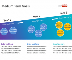 Medium Term Goals PowerPoint Template