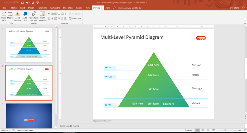 Level Strategy PowerPoint template