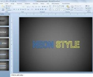 How to Add Special Text Effects in PowerPoint 2010