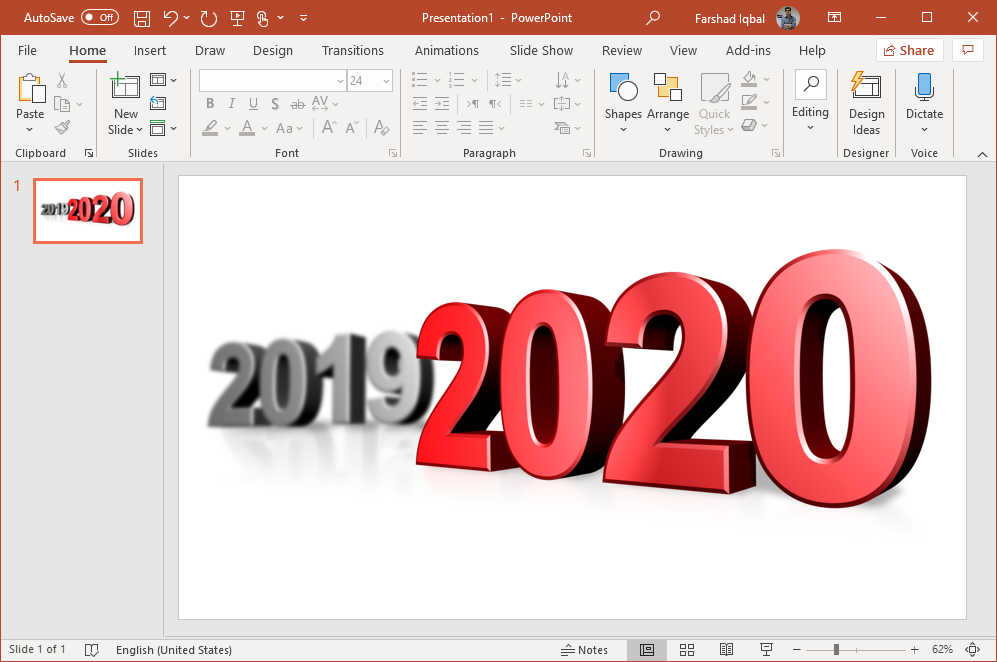 new year 2020 powerpoint clipart