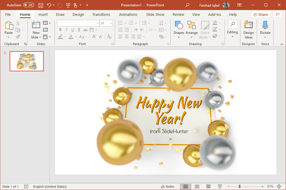 new year clock 2020 powerpoint clipart
