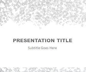 Plantilla PowerPoint con Números