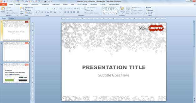 how to change slide numbers on powerpoint